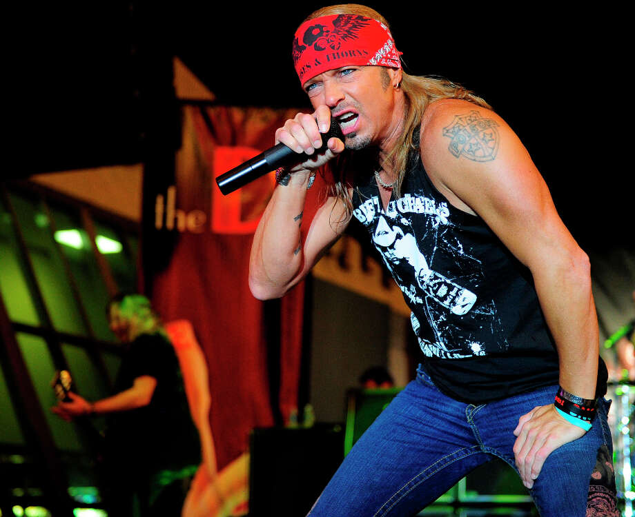 Singer Bret Michaels performs during the grand opening of the D Las Vegas at the Freemont Street Experience on October 13, 2012 in Las Vegas, Nevada. (suggested by drimblewedge) Photo: Steven Lawton, FilmMagic / 2012 Steven Lawton