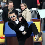 PSY performs at South Korean president inauguration ceremony in the National Assembly on February 25, 2013 in Seoul, South Korea. (reader suggestion)