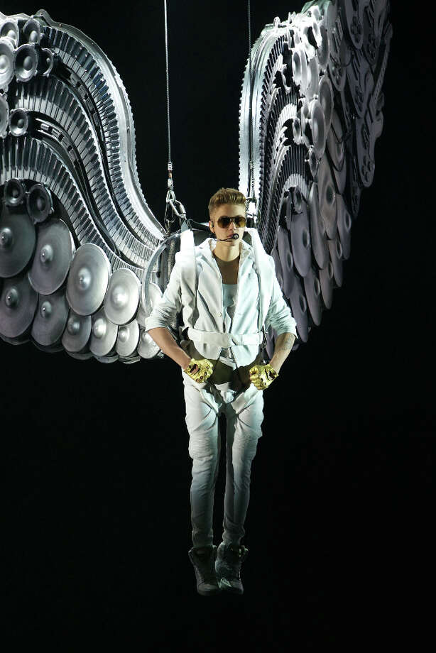 Justin Bieber performs on stage at the Palacio de los Deportes stadium on March 14, 2013 in Madrid, Spain. (suggested by obamaboy) Photo: Carlos Alvarez, Redferns Via Getty Images / 2013 Redferns via Getty Images