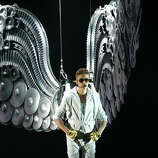 Justin Bieber performs on stage at the Palacio de los Deportes stadium on March 14, 2013 in Madrid, Spain. (suggested by obamaboy)