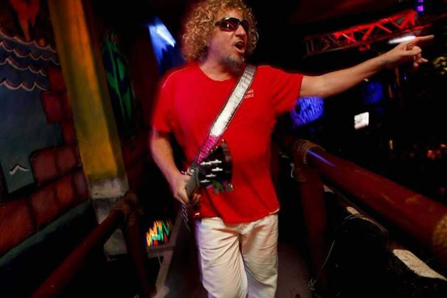 Sammy Hagar -- really, but why not David Lee Roth??? -- suggested by septic hank.