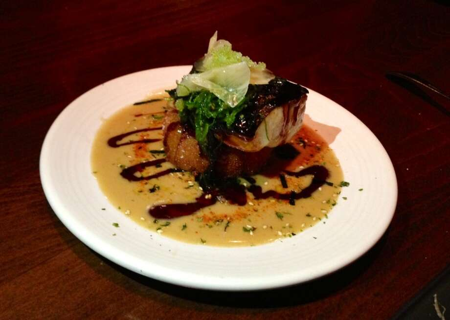Roasted black cod with soy glaze