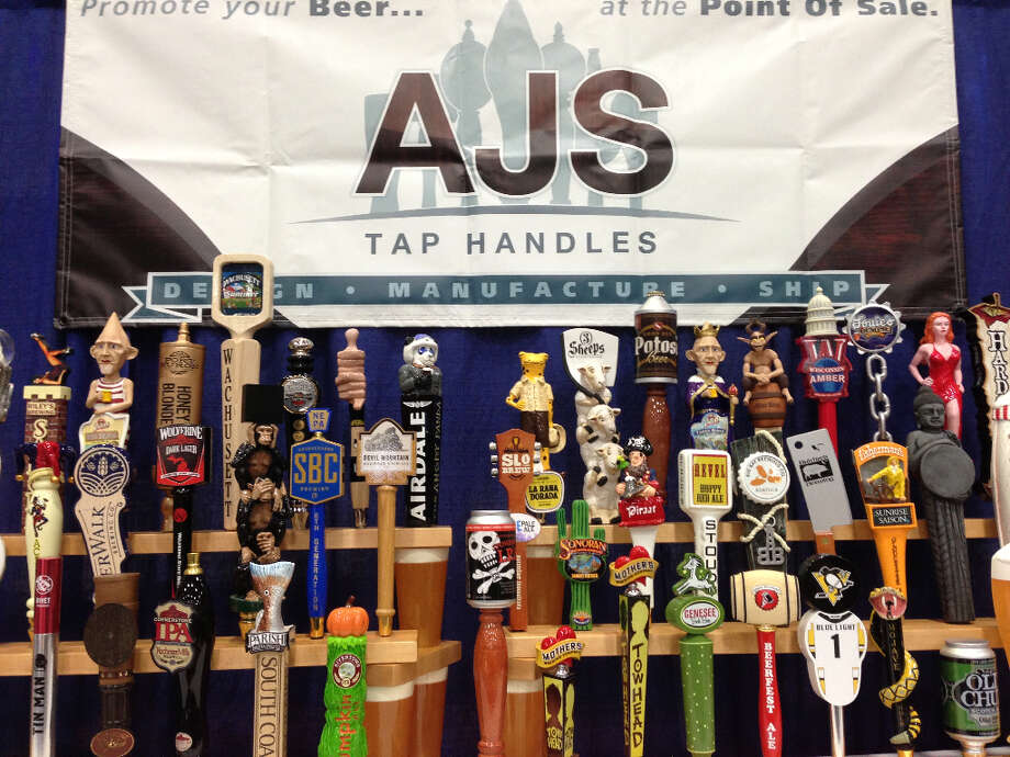Tap handles have to come from somewhere. Wisconsin's AJS was one of a few companies displaying its handiwork.