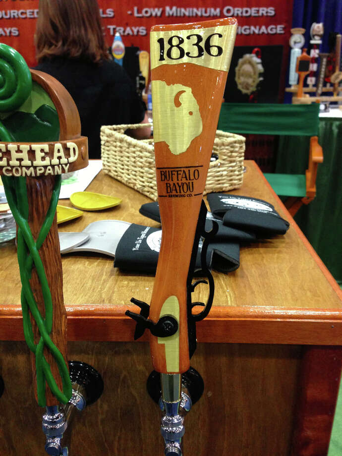 Houston's Buffalo Bayou Brewing gets its distinctive tap handles from New Hampshire's Green Mountain Taps.