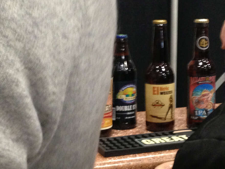 No Label El Hefe was among the beers featured at the beer stations set up around the expo hall during the afternoon.