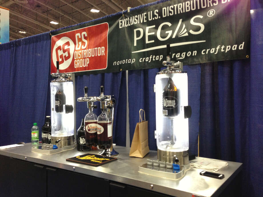 A Pegas growler-filling system like the one in place at Houston's Growler Beer and Wine To Go.