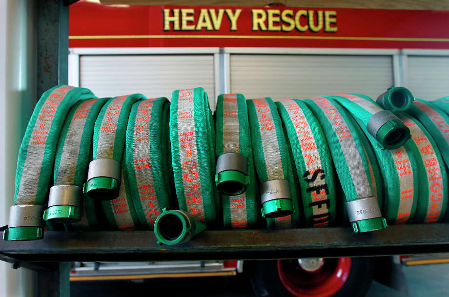 Hoses are organized at Fire Station No. 1 on Folsom Street in San Francisco. Photo: Paul Chinn, The Chronicle / ONLINE_YES