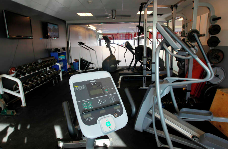 The exercise room is seen at Fire Station No. 1 on Folsom Street in San Francisco, Calif. on Wednesday, March 27, 2013. The firehouse, the first built in the city in 40 years, replaces the old one on Howard Street, which is being demolished to make way for the SFMOMA expansion. Photo: Paul Chinn, The Chronicle / ONLINE_YES