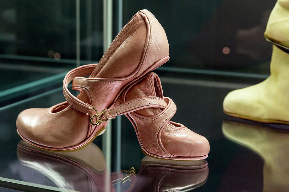 A shoe with the name 'Mother and Daughter' designed by Kobi Levi at the exhibition. Photo: Joern Haufe, Getty Images / 2013 Getty Images