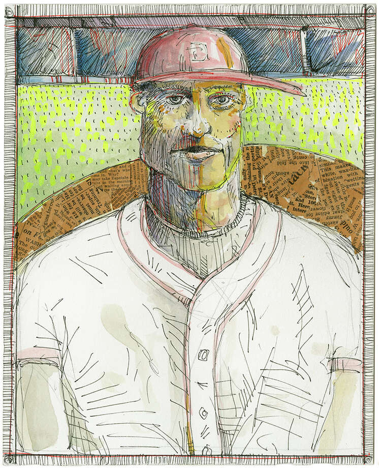 "This drawing by Redding artist Chris Durante is part of a new exhibit titled ""Ball Players,"" opening with a reception Saturday, April 6, at the Gallery at Still River Editions in Danbury. Photo: Contributed Photo"