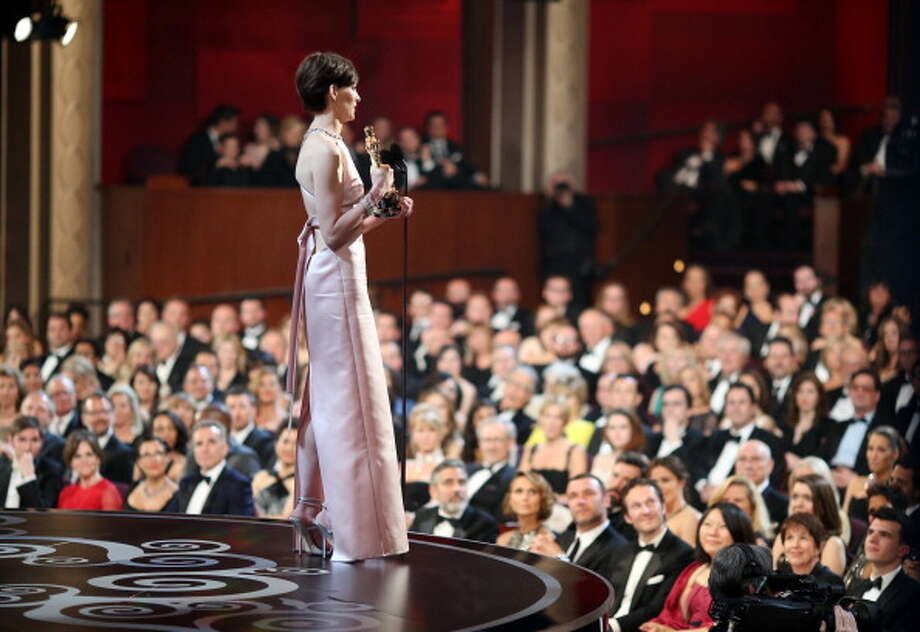 Anne Hathaway giving her Oscar acceptance speech. Photo: Christopher Polk, Getty Images / 2013 Getty Images