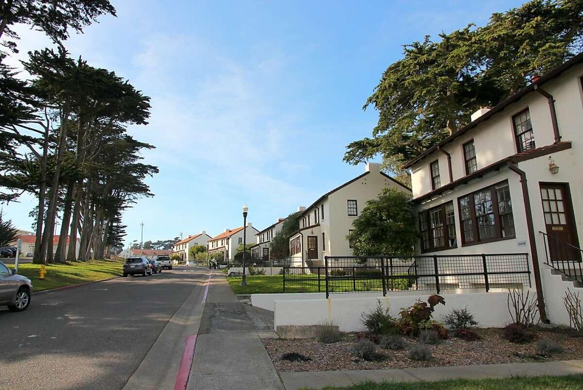 Historic Storey Avenue homes in the Presidio's Fort Scott district.
