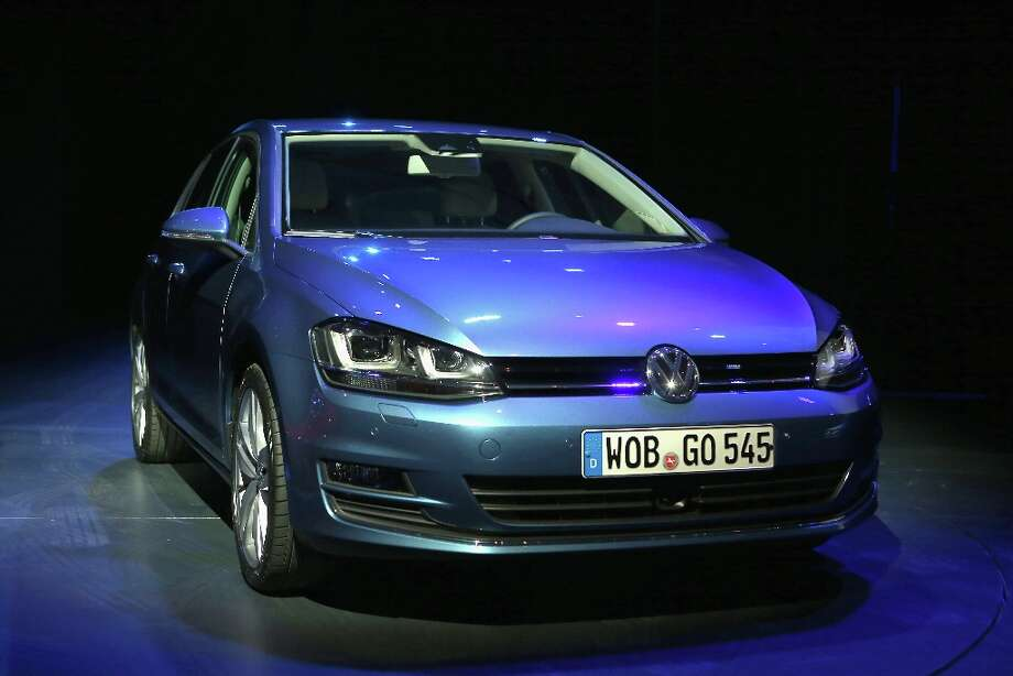 NEW YORK, NY - MARCH 28:  A Volkswagen Golf is displayed before being named the 2013 World Car of the Year at the New York Auto Show on March 28, 2013 in New York City. It was the second consecutive year that Volkswagen has won the prestigious title. Photo: John Moore, Getty Images / 2013 Getty Images