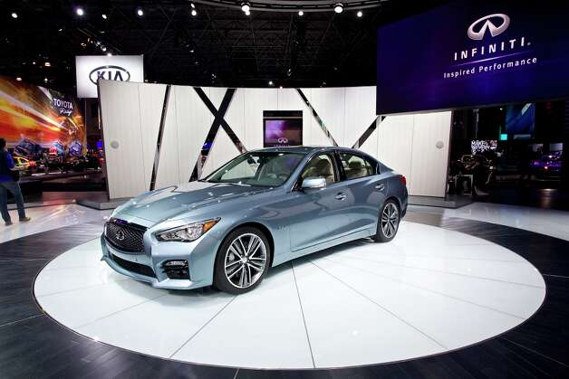 New to Infiniti's lineup is the entry-level Q50, a small competitor to the Lexus IS and BMW 3-Series. It has a low, wide look and taut lines. Under the hood is a 328-horsepower, 3.7-liter V6 that gets 20 mpg in the city and 30 on the highway. The Q50, which went on sale this summer, starts at $36,700 (excluding shipping) for the base model and $43,950 for the hybrid. Photo: