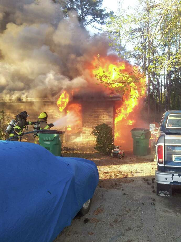 Firefighters fought a house fire Thursday evening in Kountze. Photo: Handout: Suzanne Stoeppleman