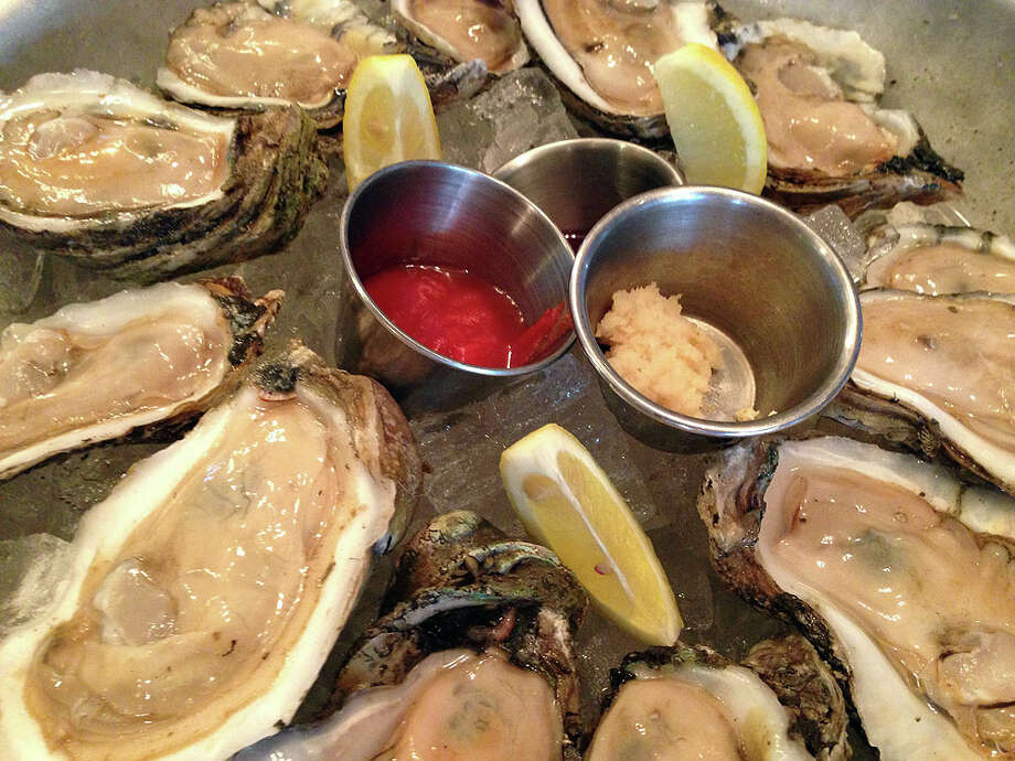The oysters come with all the fixings.