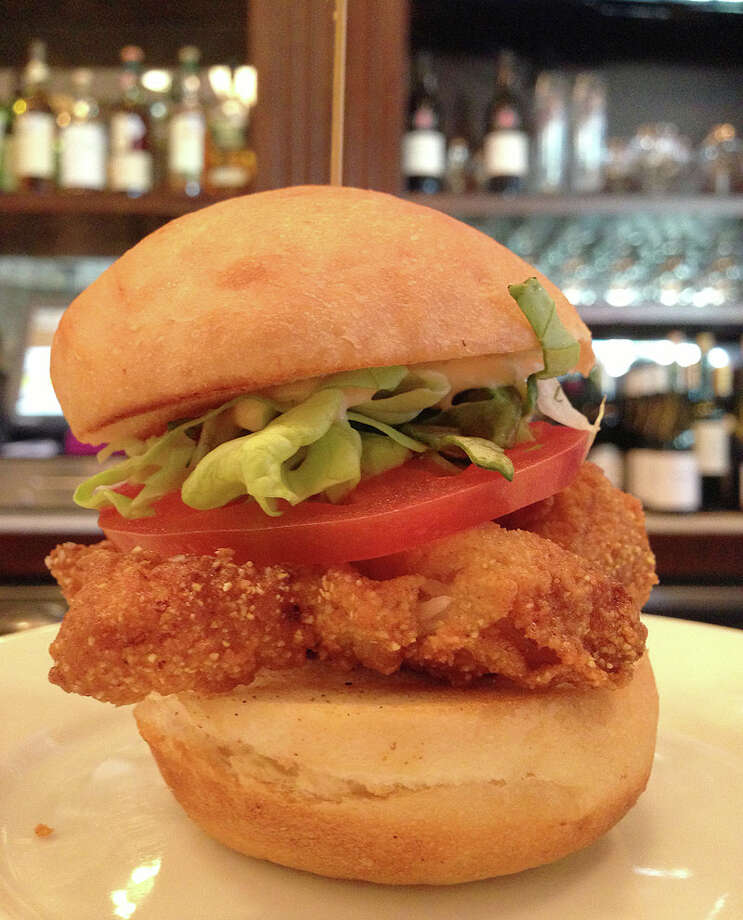 Fried fish slider for $3.