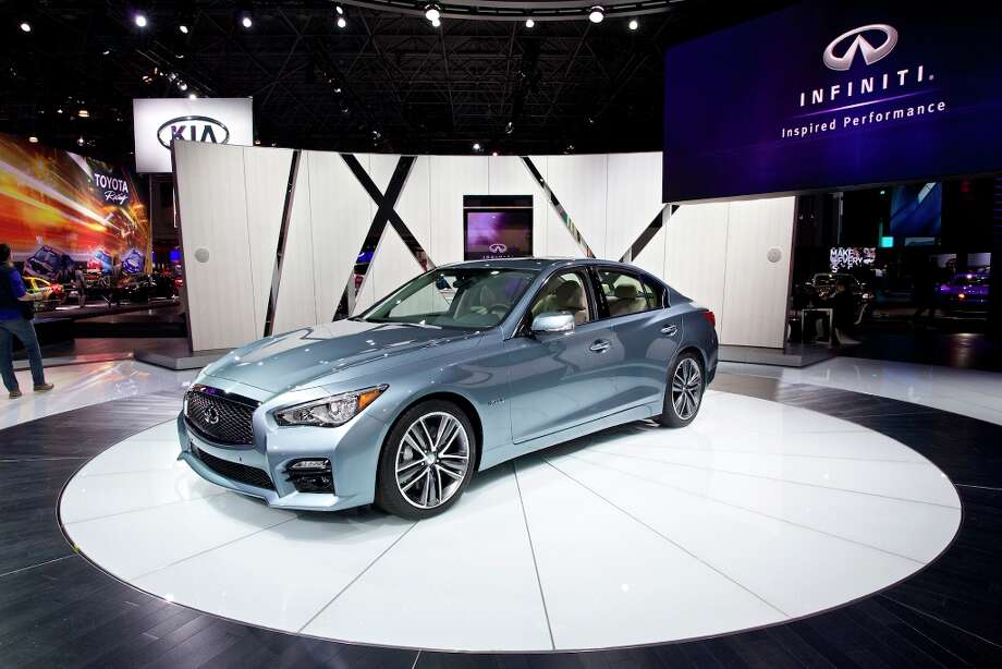 The 2014 Infiniti Q50 Sports Sedan at the New York International Auto Show. Photo: BENJAMIN NORMAN, New York Times / NYTNS
