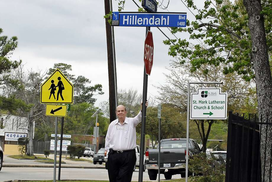Jerry Simonton has seen many changes on Hillendahl Boulevard since his boyhood, when he rode a go-kart on the road, named for early Spring Branch settler Wilhelm Heinrich August Hillendahl. The road was unpaved then and surrounded by farmland. Photo:  Tony Bullard 2013, Freelance Photographer / © Tony Bullard & the Houston Chronicle