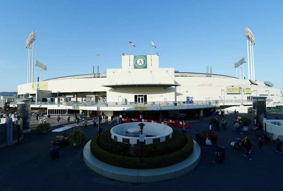28. O.co Coliseum, home of the Oakland Athletics. Homes cost $106 per square foot, 0.43 times the area average. Photo: Thearon W. Henderson, Getty Images / 2012 Thearon W. Henderson