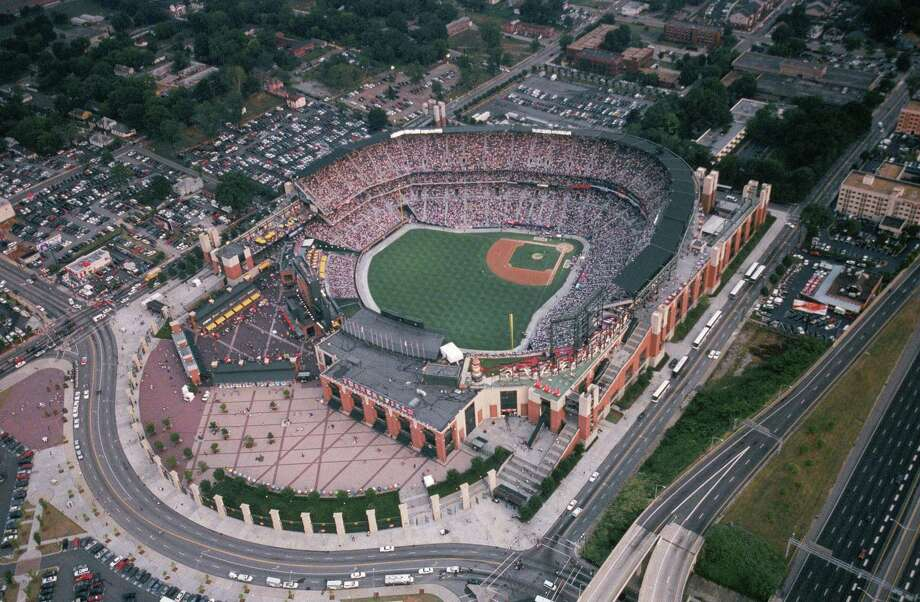 23. Turner Field, home of the Atlanta Braves. Homes cost $64 per square foot, 0.87 times the area average. Photo: Paul Cunningham, MLB Photos Via Getty Images / 2000 Paul Cunningham
