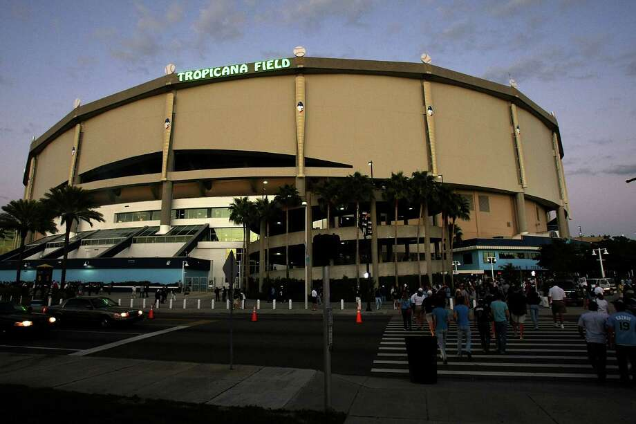 18. Tropicana Field, home of the Tampa Bay Rays. Homes cost $1.05 per square foot, 1.22 times the area average. Photo: Doug Benc, Getty Images / 2008 Getty Images