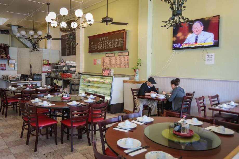 People enjoy lunch at Shanghai Winter Garden in Millbrae.
