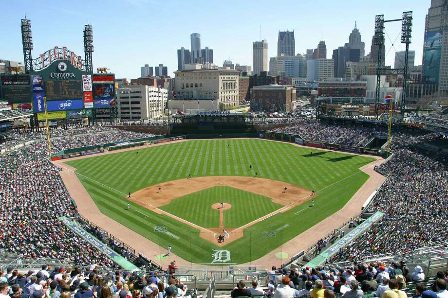 4. Comerica Park, home of the Detroit Tigers. Homes cost $110 per square foot, 2.24 times the area average. This is the best example of a big premium in a low-cost city. Photo: John Grieshop, MLB Photos Via Getty Images / 2005 MLB Photos