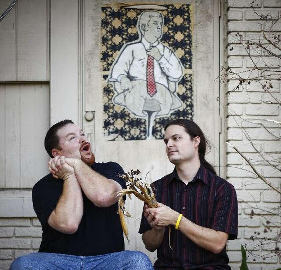 Houston musicians Bill Curtner, left, and Jef Rouner.