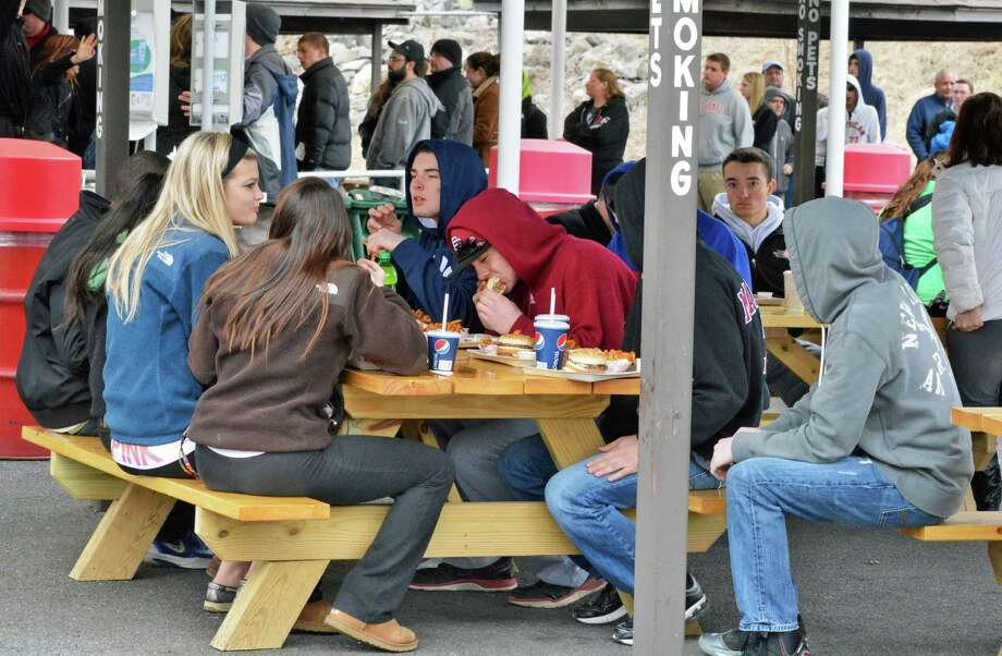 Customers at Jumpin' Jack's Drive-In in Scotia as it opens for the season Thursday March 28, 2013.  (John Carl D'Annibale / Times Union) Photo: John Carl D'Annibale / 10021452A