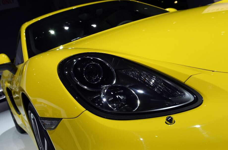 A 2014 Porsche Cayman S on display during the second  press preview day at the New York International Auto Show March 28, 2013 in New York. Photo: TIMOTHY A. CLARY, AFP/Getty Images / AFP