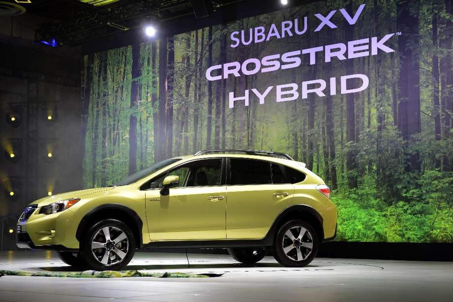 The 2014 Subaru XV Crosstrek Hybrid on display during the second press preview day at the New York International Auto Show. Photo: TIMOTHY A. CLARY, AFP/Getty Images / AFP