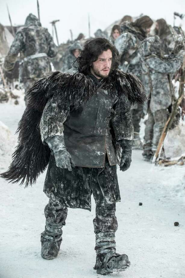 Last we saw Jon Snow (Kit Harington) he was looking down on thousands of wildlings gathering to follow Mance Rayder. Photo: HBO / handout