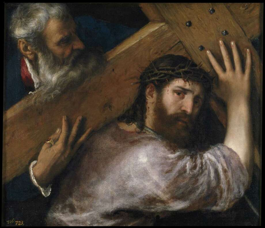 "Titian's ""Christ Carrying the Cross,"" circa 1565, depicts the preface to the Resurrection. Photo: Museo Nacional Del Prado, Madrid"