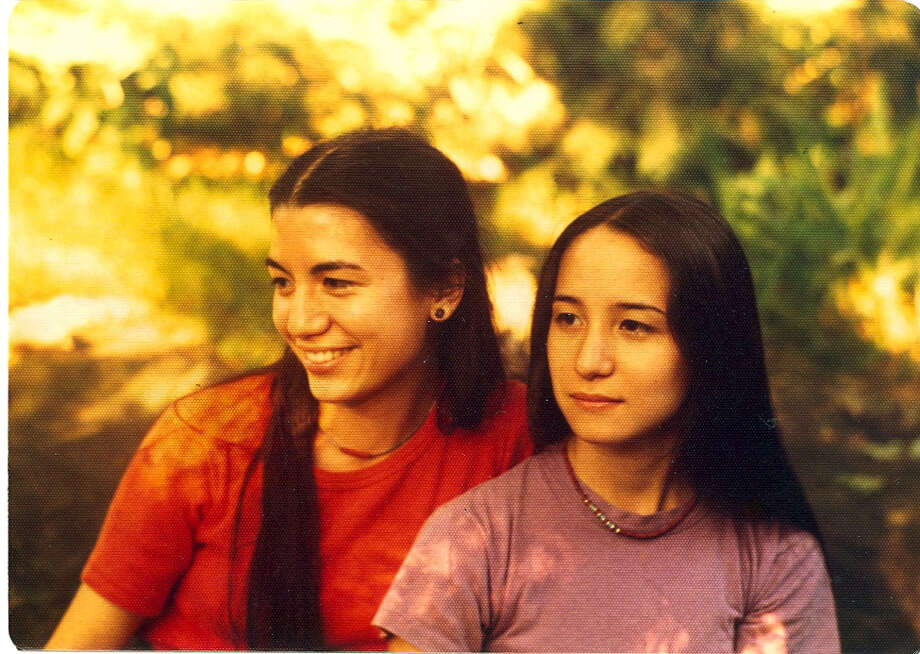 Poet Kimiko Hahn, left, and Tomie Hahn as teenagers