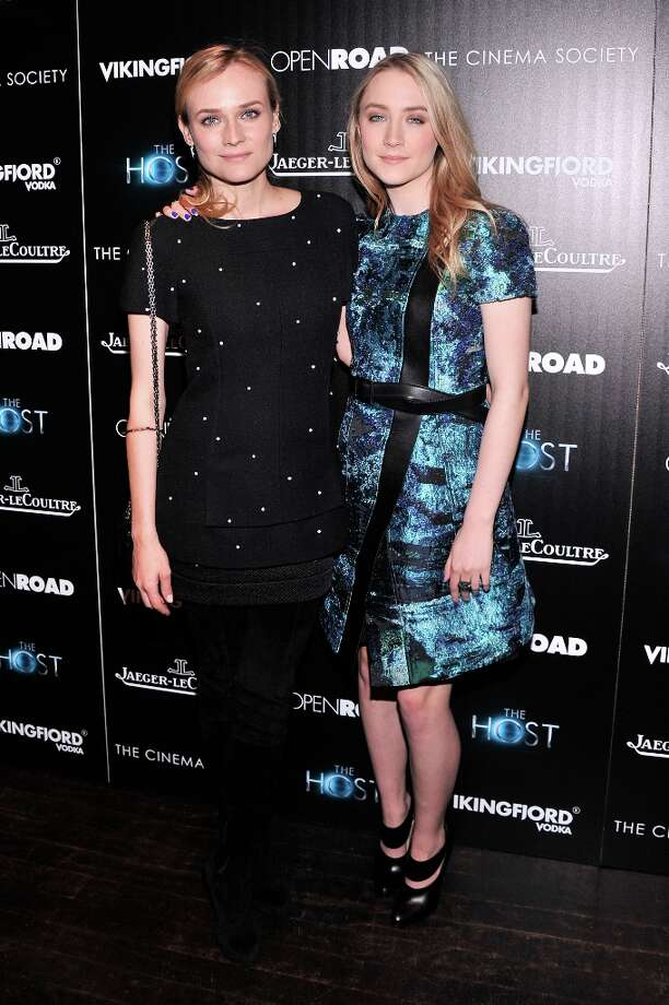 Actors Diane Kruger and Saoirse Ronan attend The Cinema Society and Jaeger-LeCoultre Hosts A Screening Of The Host at Tribeca Grand Hotel on March 27, 2013 in New York City. Photo: Stephen Lovekin, Getty Images / 2013 Getty Images