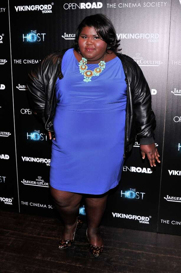 Actress Gabourey Sidibe attends The Cinema Society & Jaeger-LeCoultre Hosts A Screening Of The Host at Tribeca Grand Hotel on March 27, 2013 in New York City. Photo: Stephen Lovekin, Getty Images / 2013 Getty Images