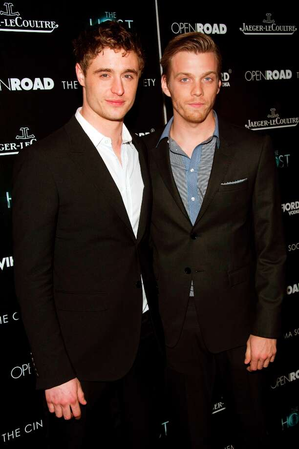 Max Irons, left, and Jake Abel attend a screening of The Host presented by The Cinema Society and Jaeger-LeCoultre on Wednesday, March 27, 2013 in New York. (Photo by Charles Sykes/Invision/AP) Photo: Charles Sykes, Associated Press / Invision