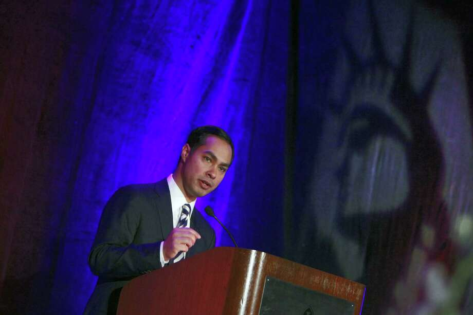 Mayor Julián Castro  delivers the keynote address at the Americans for Immigrant Justice annual meeting in Miami. A reader wonders what makes the mayor such a coveted speaker that he would  charge fees. Photo: John Van Beekum, For The Express-News