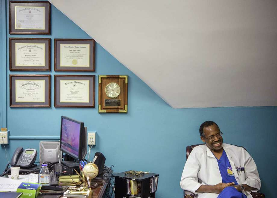 Ben Carson is a pediatric neurosurgeon at Johns Hopkins Hospital. Photo: Matt Roth, New York Times