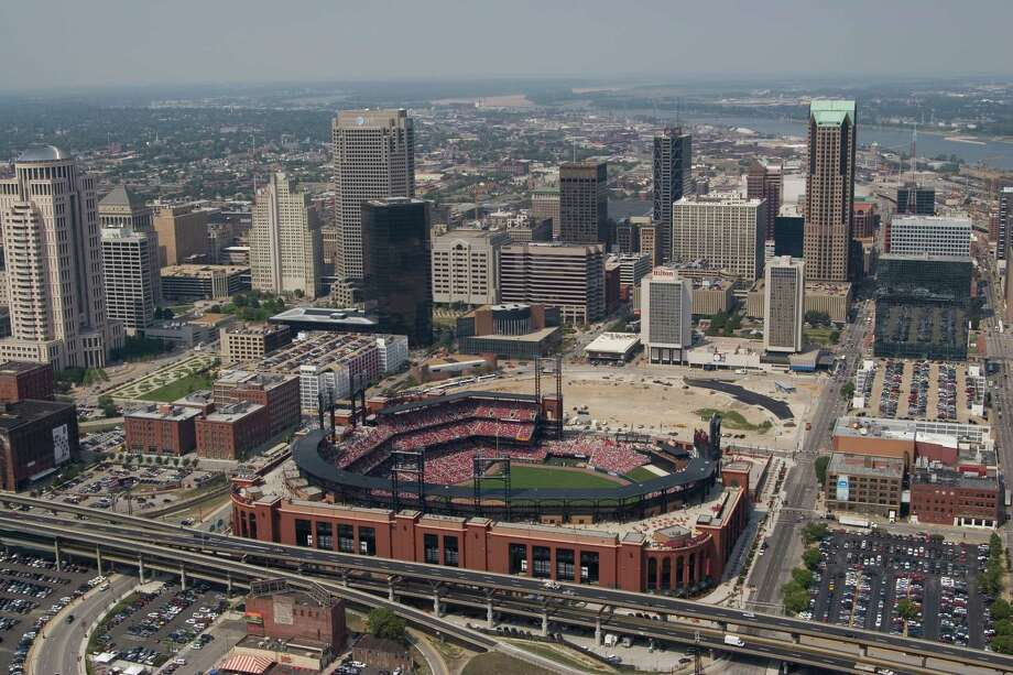 13. Busch Stadium, home of the St. Louis Cardinals. Homes cost $156 per square foot, 1.68 times the area average. Photo: Dan Donovan, MLB Photos Via Getty Images / 2006 MLB Photos