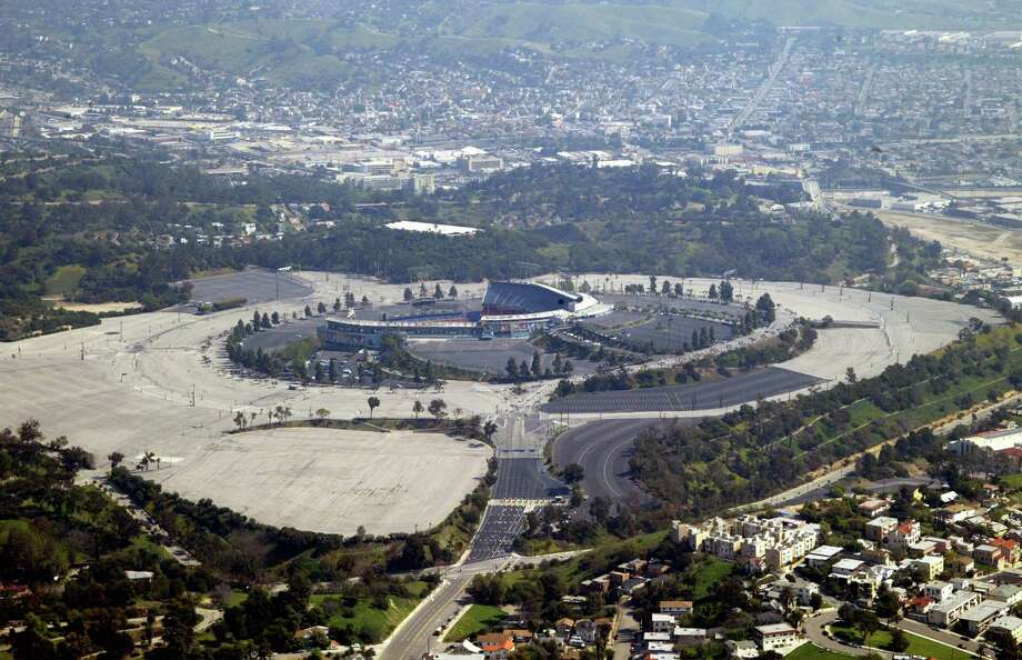 14. Dodger Stadium, home of the Los Angeles Dodgers. Homes cost $387 per square foot, 1.57 times the area average. Photo: Frazer Harrison, Getty Images / 2003 Getty Images