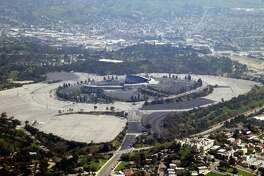 LOS ANGELES - MARCH 6: Dodger Stadium is photographed March 6, 2003 in Los Angeles, California.