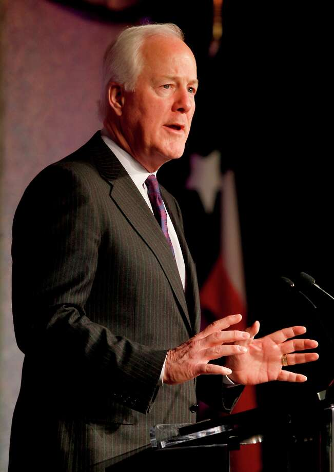US Senator John Cornyn speaks at the Houston Hispanic Chamber of Commerce Luncheon at the Hilton America Hotel in Houston, Texas. Photo: Thomas B. Shea, Houston Chronicle / © 201c Thomas B. Shea