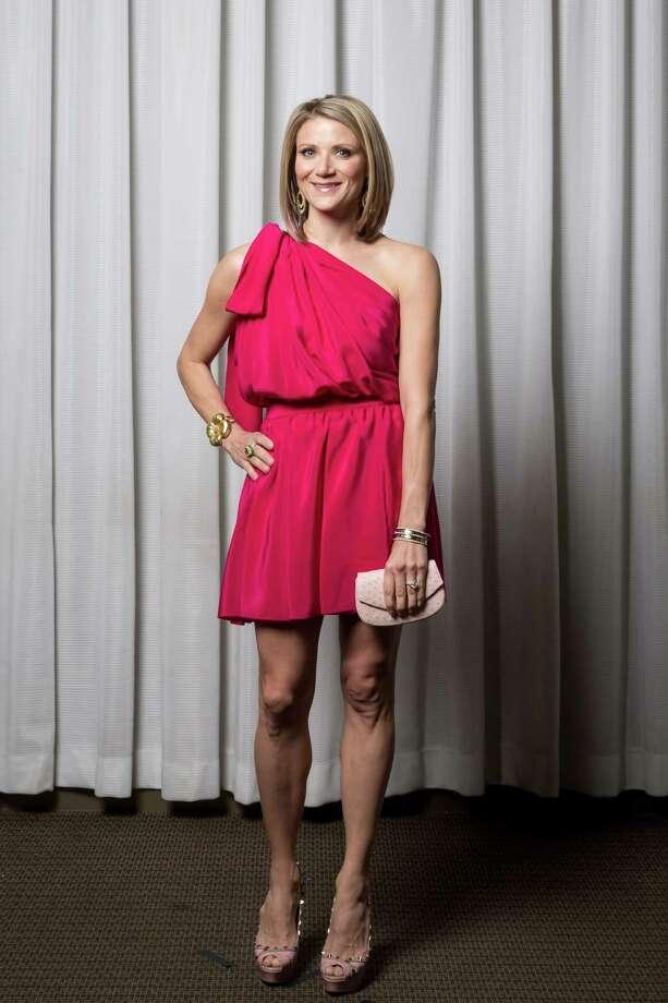 Stephanie Cockrell in Yves Saint Laurent.  Photo: Michael Paulsen, Staff / © 2013 Houston Chronicle
