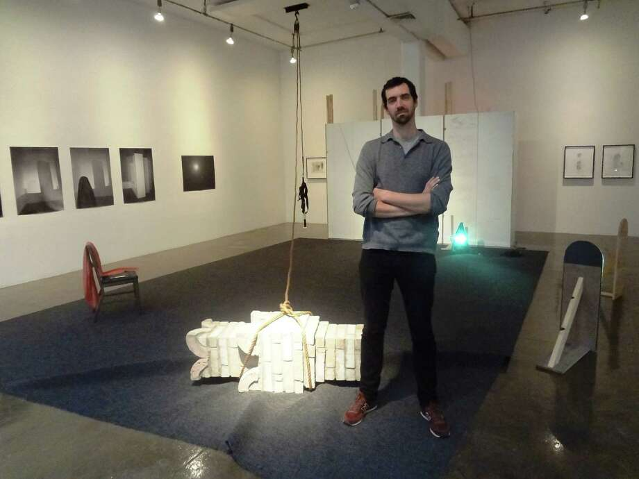 """Adam Putnam's """"Shadow in a Shadow"""" installation at Artpace is """"a snapshot of my working process,"""" says the New York artist. Photo: Photos By Steve Bennett / San Antonio Express-News"""