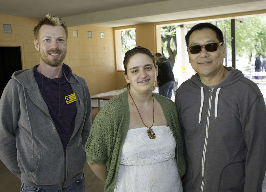 Troy Dow (from left), Mackenzie Shelton and Tommy Cheng
