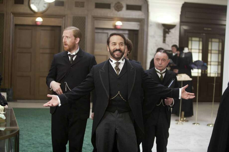 "Jeremy Piven portrays American shopping showman Harry Selfridge in ""Masterpiece Classic's"" new London-set period series, which co-stars Tom Goodman Hill and Ron Cook. Photo: PBS"