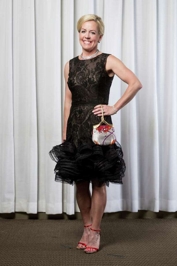 Rosemary Schatzman in Oscar de la Renta Photo: Michael Paulsen, Staff / © 2013 Houston Chronicle