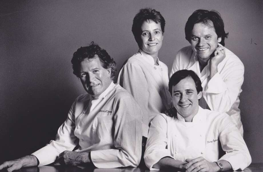From left: Jeremiah Tower, Cindy Pawlcyn, Bradley Ogden and Wolfgang Puck, 1989